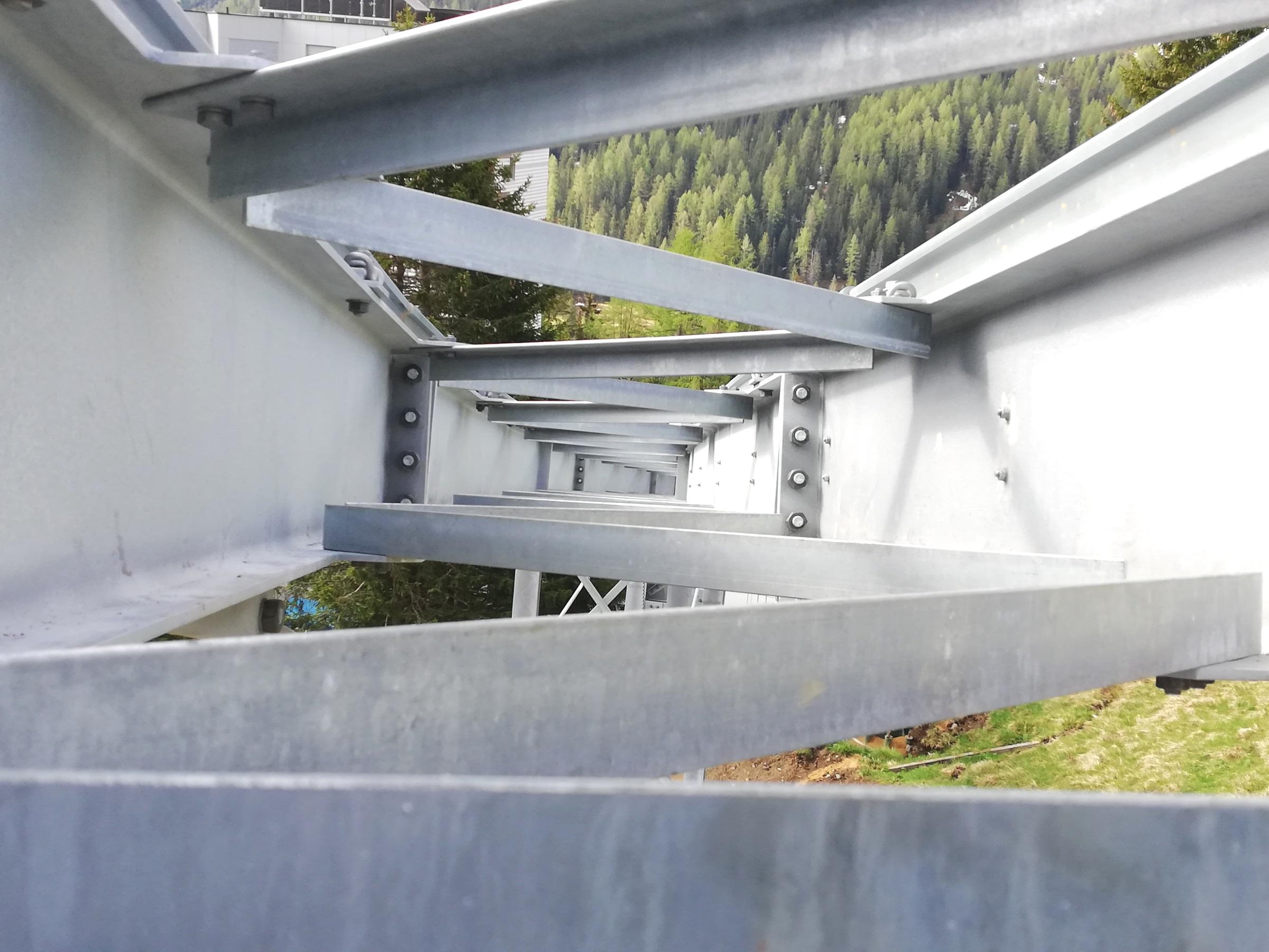 Bau des Tschuggen Express im Gang